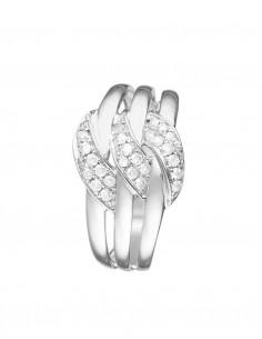 Bague 3 mots Doux Or Jaune Diamant 0,4ct