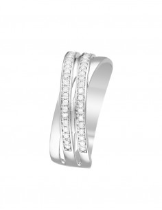 Bague Touch of Magic Or Blanc Diamant 0,1ct