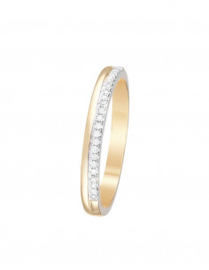 Bague La Promise Or Blanc Diamant 0,15ct
