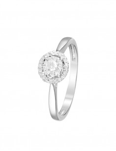 Bague Sagesse Or Blanc Diamant 0,15ct