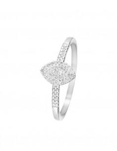 Bague Envoûtante Or Blanc Diamant 0,25ct