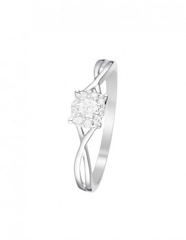 Bague Vendôme Or Blanc Diamant 0,15ct