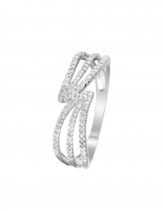 Bague Grennelle Or Blanc Diamant 0,2ct