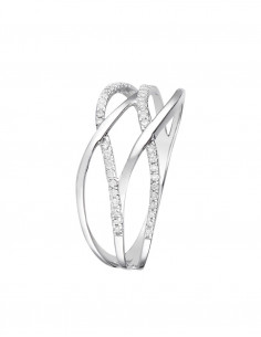 Bague Elue de ton cœur Or Blanc Diamant 0,12ct