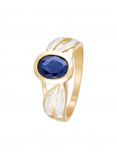 Bague Princesse Grace Or Jaune Diamant 0,21ct Rubis 1,4ct