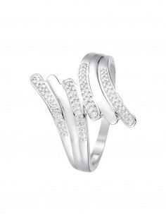 Bague Nouons nos liens Or Blanc Diamant 0,2ct