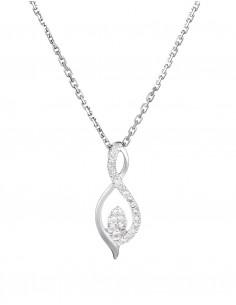 Boucles d'oreilles Merveilles de Lumières Or Blanc Diamant 0,5ct