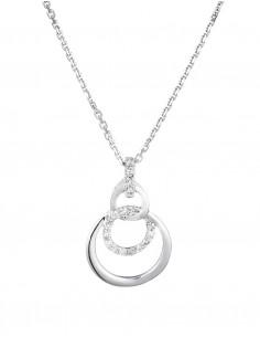 Boucles d'oreilles Chemin de ton cœur Or Blanc Diamant 0,51ct