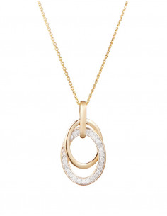 Boucles d'oreilles Ovalis Or Blanc Diamant 0,07ct