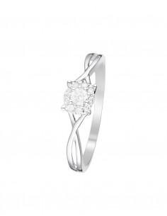 Bague Vendôme Or Blanc Diamant 0,15ct