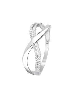 Bague Chamade Or Blanc Diamant 0,21ct