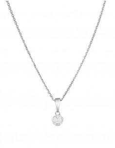Boucles d'oreilles Pure Seduction Or Blanc Diamant 0,2ct