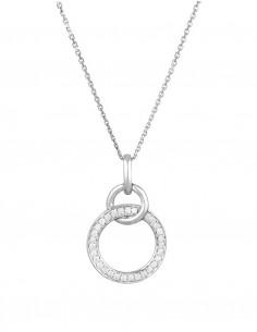 Boucles d'oreilles Infiniment Or Blanc Diamant 0,08ct