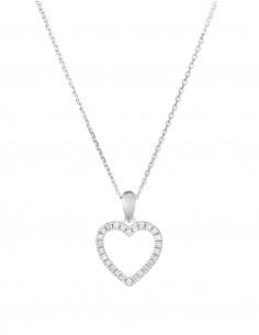 Boucles d'oreilles Divine Or Blanc Diamant 0,12ct